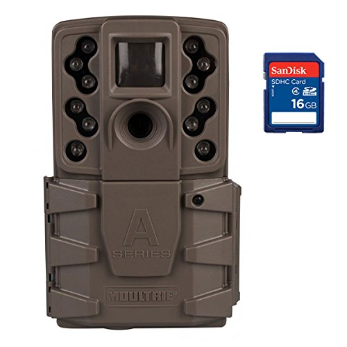 Moultrie A-25i 12MP Low Glow Long Range Infrared Game Trail Camera with SD Card by Moultrie