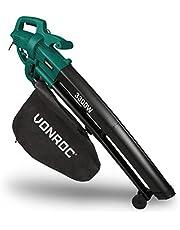 VONROC 3-in-1 bladblazer – 3000W – Blazen, Zuigen & Versnipperen – 270km/h – Incl. 35L opvangzak