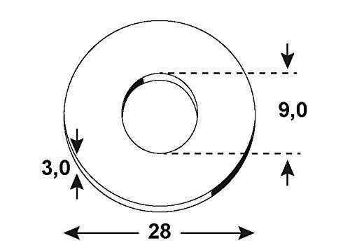 1000 g verzinkt Connex Bauscheiben 17,5 x 50 x 50 x 5 mm KL4180051 DIN 436