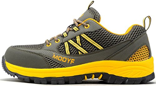 Safety Shoes For Men,Modyf Steel Toe Work Outdoor Protective Shoes