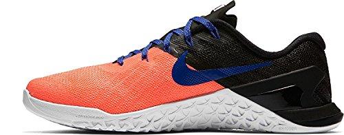 Nike Damen Metcon 3 Trainingsschuhe Schwarz / Lava Glow / Blau