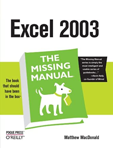 amazon com excel the missing manual 0636920006640 matthew rh amazon com Manual Work Excel Excel Users Manual