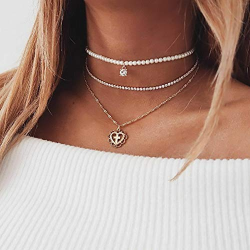 Mikash Hot Women Multi-Layer Long Chain Pendant Crystal Choker Necklace Jewelry Gift | Model NCKLCS - 39694 | ()