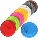Yilove Coffee Cup Lids,Silicone Mug Cover for Ceramic Travel Coffee Mug,8 Pack