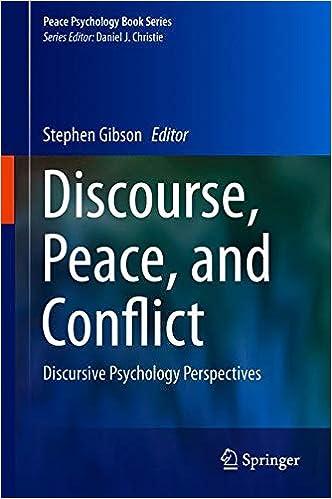Amazon Com Discourse Peace And Conflict Discursive Psychology