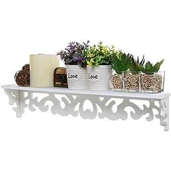 24 Inch Elegant White Decorative Wall Mounted Floating Storage Display /  Book Shelf / Utility Rack Part 90