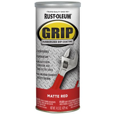 RUST-OLEUM 322787 14 oz Matte Red Rubberized Dip Coating