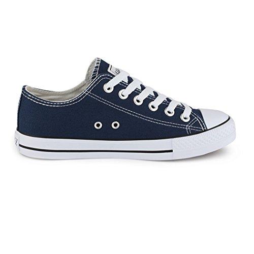 Best-botas para mujer zapatilla zapatillas zapatos de cordones estilo deportivo Azul - Bleu - Bleu foncé