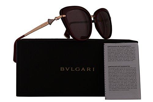 Bvlgari BV8193B Sunglasses Red w/Violet Lens 54mm 54321A BV 8193B BV8193-B BV 8193-B - Bulgari Eyewear