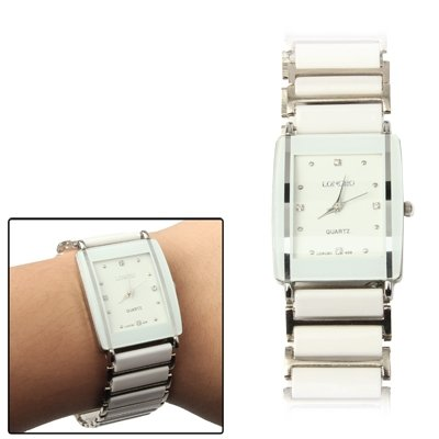 Fen'din Fashionable Diamond Jewelry Dial Men Jewelry Quartz Watch with Ceramics Watchband (Color : S-wa-0255a) (Dial Jewelry Clasp)