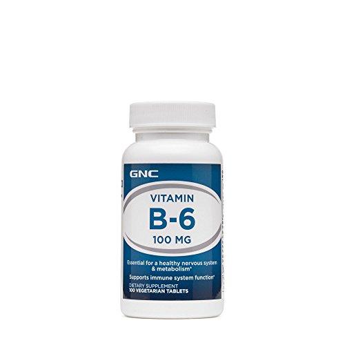 GNC Vitamin B-6 100mg, 100 Tablets