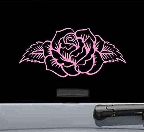 Floral rose Vinyl Decal Sticker (SOFT PINK)