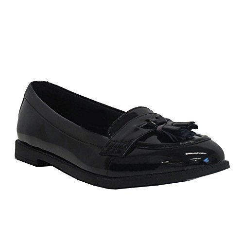 c255964ad54 Clarks Preppy Edge BL Girls Classic Loafer School Shoes 5.5 Black Patent