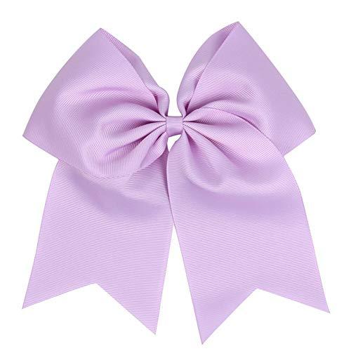 Baby 8 Elastic Lovely Big Ribbon Bowknot Hair Rope Hair Bow Hair Band Accessory (Color - purple)