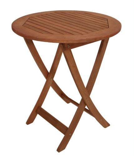 DEGAMO Klapptisch 65cm rund, Eukalyptus Holz, FSC®-zertifiziert