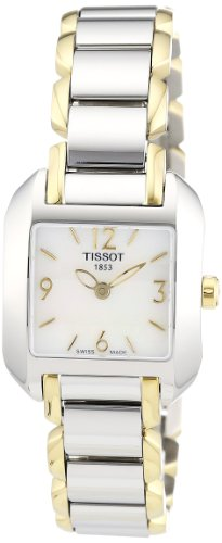 Tissot Two Tone Bracelet - Tissot Women's T02228582 T-Wave Two-Tone Bracelet Watch
