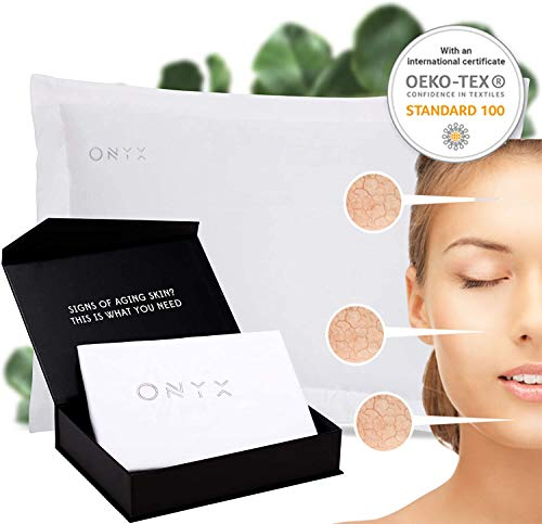 ONYX Anti-Aging Silver Ions Beauty Technology Forever Young Active Smart Pillowcase Reduce Wrinkles,Migraine,Improve Face Radiance, Antibacterial, Prevents Hair Loss and More Within 4 Weeks