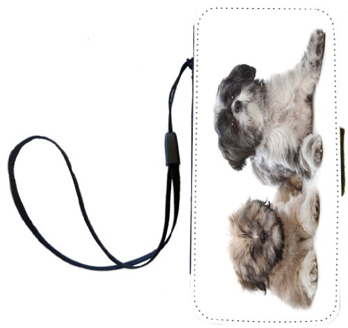 (Rikki Knight Lhaso Apso and a Shih Tzu Flip Wallet Case with Magnetic Flap for Apple iPhone 5 )