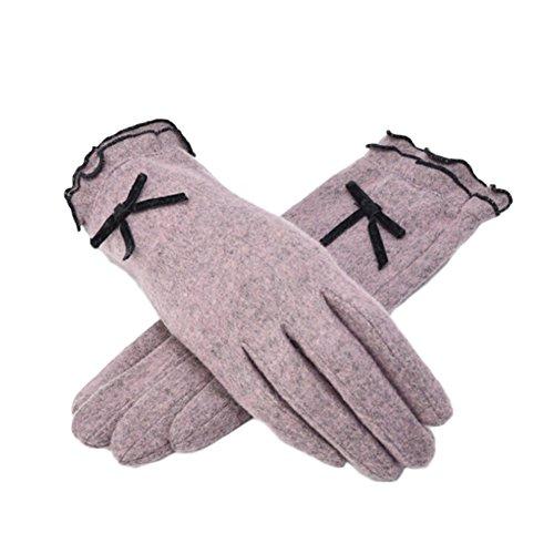 BAOBAO Wool Gloves Cute Korea Style Warm Winter Gloves for Girls Students
