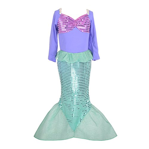 (Dressy Daisy Girls Princess Mermaid Dressing Up Costumes Halloween Fancy Dress Size 6 /)