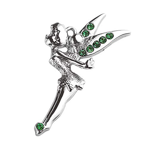 New Hot DIY Whoelsale Cute Green Crystal Angel Fairy 10pcs Charms Pendants - Fairy Charm Tinkerbell