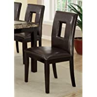 Set of 4 Contemporary Dining Chair w/ Brown Espresso and Pine Wood