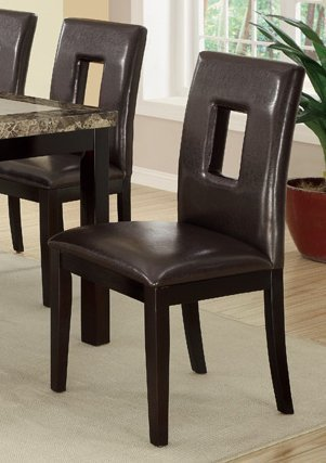 Set of 4 Contemporary Dining Chair w/ Brown Espresso and Pine Wood by Advanced Furniture