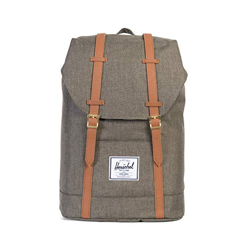 Herschel Little America Backpack-Canteen Crosshatch/Tan Synthetic Leather