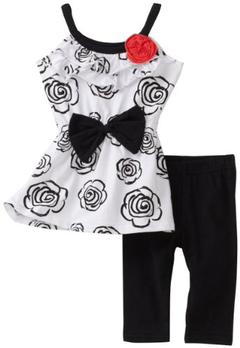 Young Hearts Baby Girls' Long Floral Tunic With Pant Set