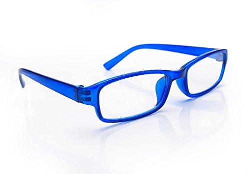 NEW UNISEX (Damen Herren) Blue Retro Vintage Lesebrille Brille +0.50 +0.75 +1.0 +1.5 +2.0 +2.5 +3.00 +4.00 Reading glasses Morefaz(TM) (+1.5, Blue)