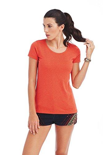 """Stedman Damen Damen Melange T-Shirt """"Lisa"""" ST9900 Pumpkin Heather L"""