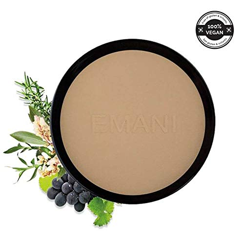 Emani Vegan Cosmetics HD Bamboo Setting Powder - 100% Natural Organic Ingredients, Blurs & Smooths Fine Line and Wrinkles, Controls Shine, Matte Finish, Great for Sensitive/Acne Prone Skin
