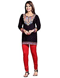 Maple Clothing Womens Kurti Tunic Top Printed Short Blouse Indian Clothes