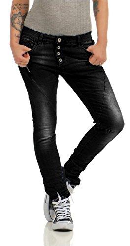 Fashion4Young - Jeans - Jeans - Femme Noir