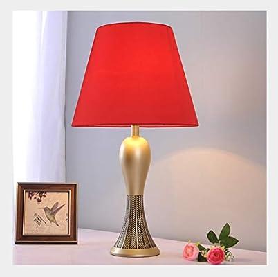 Lampara de mesa Lampara Escritorio Dormitorio cálido Simple y ...