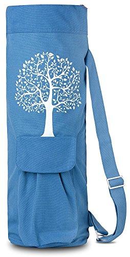 BalanceFrom BFGYFM6BL Goyoga Full Zip Exercise Yoga Mat Bag with Multi-Functional Storage Pockets