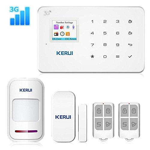 hitsan nuevo G183WCDMA 3G inalámbrico sistema de alarma de seguridad para el hogar gsm 3g App remoto antirrobo de...