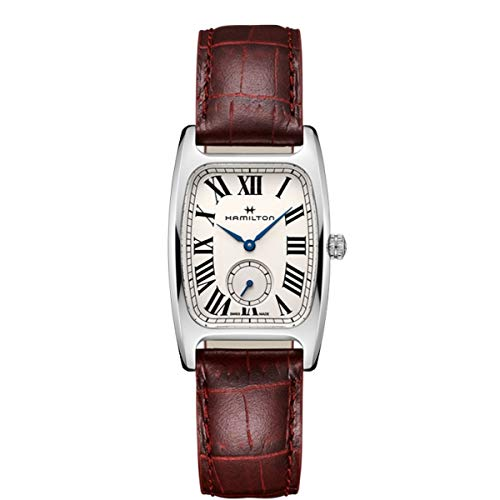 Hamilton Boulton L Silver-White Dial Ladies Red Leather Watch H13421811