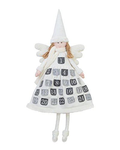 Doll Primitive Angel (Christmas Advent Calendar - Decorative Festive Angel Ornament, Xmas Doll Decoration, Angel Doll, 42 Inches)