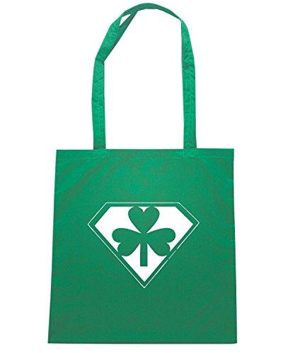 T-Shirtshock - Bolsa para la compra TIR0081 im irish whats your super power dark tshirt Verde