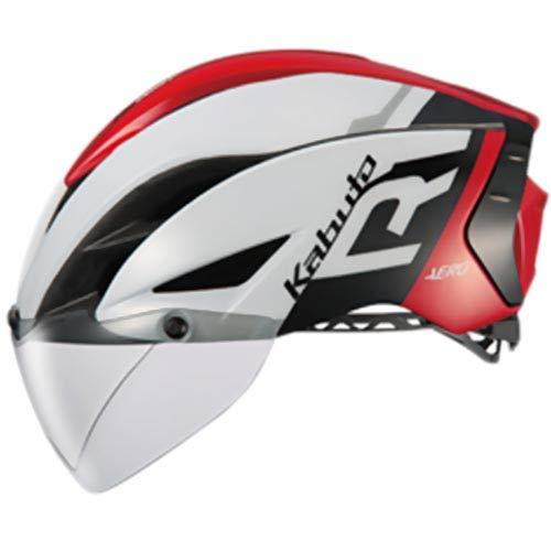 OGK KABUTO(オージーケーカブト) ヘルメット AERO-R1 G-1ホワイトレッド サイズ:XS/S (頭囲:53cm-56cm)   B079MBLM3G