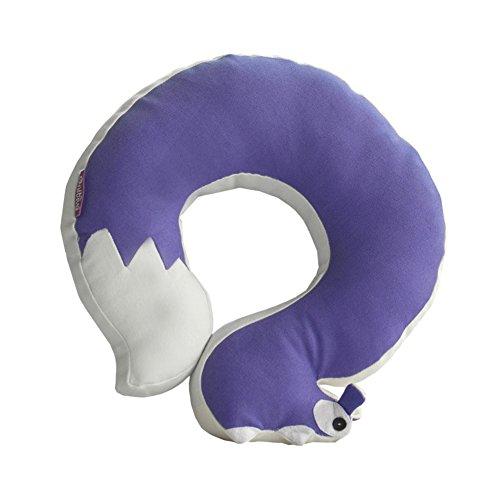 Black Temptation [Purple Squirrel] Durable Handmade Neck Pillow Canvas U-Shaped Travel Pillow