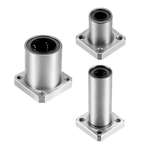 Length 29 mm Package of 2 Inner Diameter 10 mm Linear Square Flange Ball Bearings LMK10UU Outer Diameter 19 mm