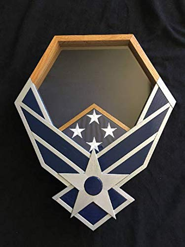 Handcrafted Silver and Navy Air Force Falcon Shadowbox by Full Medal Jacket (Image #3)