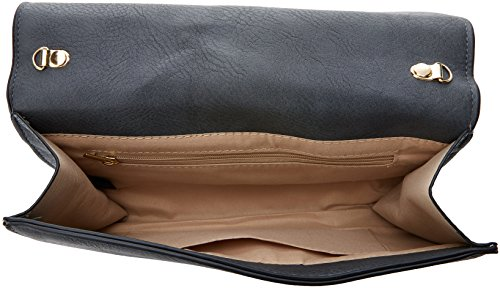 SwankySwans - Lisa Smart Faux Leather, Pochette da giorno Donna Grigio (Dark Grey)
