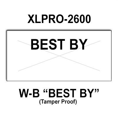 216,000 XLPro compatible 2600 ''Best By'' White General Purpose Labels to fit the XLPRO-26D, XLPRO-26E, 26EA Price Guns. Full Case + includes 12 ink rollers. by Infinity Labels