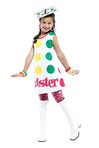 Girls Twister License Kids Child Fancy Dress Party Halloween Costume, S (4-6)