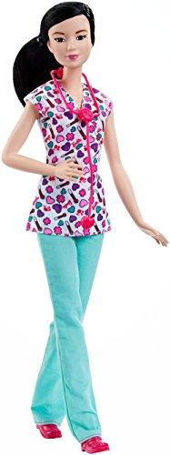 Barbie Careers Nurse Doll, Brunette,
