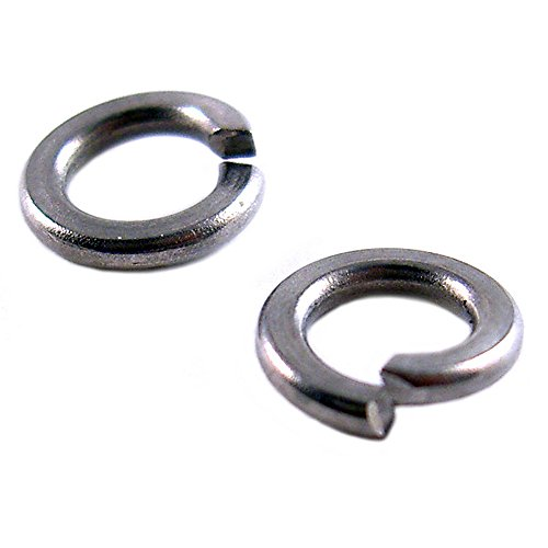 Miniature Split Ring - #10 Small Miniature Stainless Steel Spring Split Ring Lock Washers For Machine Screws or Nuts (10 Pack) (#10)