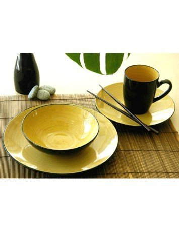 Thomson Pottery Kata 16 PC Dinnerware Set Service For 4 (Dinnerware Pottery)